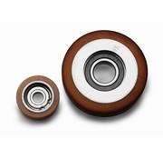 Vulkollan® Fuhrungsrollen Vulkollan® Bayer  Lauffläche Radkörper aus Stahl, Ø 100x25mm, 210KG