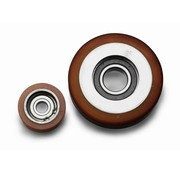Vulkollan® galets de guidage Vulkollan® Bayer roues bandage de roulement corps de roue acier, Ø 60x18mm, 110KG