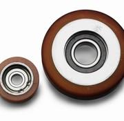 Vulkollan® Fuhrungsrollen Vulkollan® Bayer  Lauffläche Radkörper aus Stahl, Ø 50x18mm, 95KG