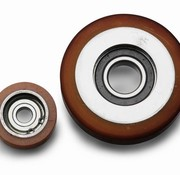Vulkollan® Fuhrungsrollen Vulkollan® Bayer  Lauffläche Radkörper aus Stahl, Ø 50x15mm, 85KG