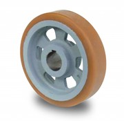 Drivhjul, Hjulfælg Vulkollan® Bayer hjulbane støbegods, Ø 125x35mm, 375KG