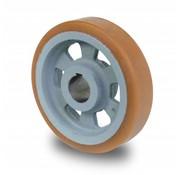 Rueda motriz poliuretano Vulkollan® bandaje núcleo de rueda de hierro fundido, Ø 125x35mm, 375KG