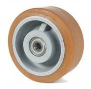 poliuretano Vulkollan® fascia centro della ruota in ghisa, Ø 400x80mm, 2500KG