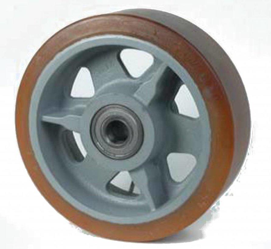 Zestawy kołowe ciężkie, spawane Vulkollan® Bayer opona litej stali, Precyzyjne łożysko kulkowe, koła / rolki-Ø400mm, 40KG