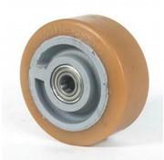 poliuretano Vulkollan® fascia centro della ruota in ghisa, Ø 400x65mm, 1900KG