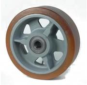 poliuretano Vulkollan® fascia centro della ruota in ghisa, Ø 350x100mm, 2600KG