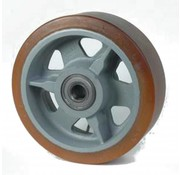 poliuretano Vulkollan® bandaje núcleo de rueda de hierro fundido, Ø 300x100mm, 2400KG