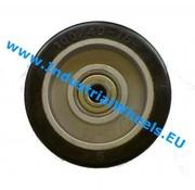 Koło, Ø 125mm, elastycznej gumy, 200KG
