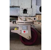 Set of 4 swivel corner towcastors for moving ISO freight containers 10.000 KG