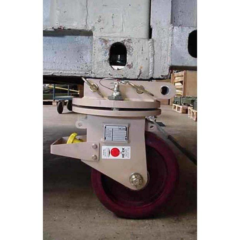 Sæt drejelige hjørne towcastors til at flytte ISO containere 10,000 KG