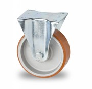 Bockrolle, Ø 125mm, Vulkanisierte gegossenem Polyurethane Laufflache, 200KG