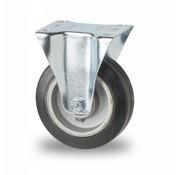 Fixed castor, Ø 125mm, elastic-tyre, 200KG