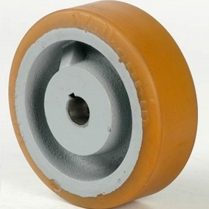 Polyuretan eller gummihjul med Keyway eller Hubmontering