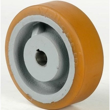 Polyuretan eller gummihjul med nyckel- eller navmontering