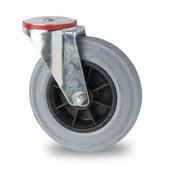 swivel castor, Ø 125mm, rubber, gray, 130KG