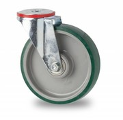 drejelig hjul , Ø 160mm, polyuretan, 300KG