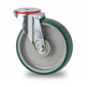 rueda giratoria, Ø 100mm, poliuretano inyectado, 150KG