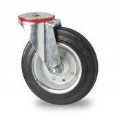 rueda giratoria, Ø 160mm, goma negra, 180KG