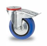 rolka skretna z blokadą, Ø 100mm, bieżnikiem elastycznym., 150KG