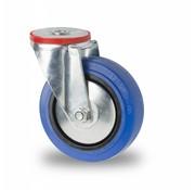 rueda giratoria, Ø 125mm, goma elástica, 150KG