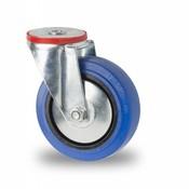 swivel castor, Ø 100mm, elastic-tyre, 150KG