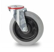 rueda giratoria, Ø 100mm, goma elástica, 150KG