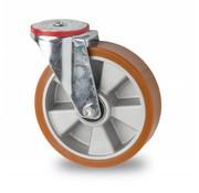 rueda giratoria, Ø 200mm, polyuréthane vulcanizada fundido, 400KG
