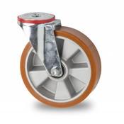 drejelig hjul , Ø 160mm, vulkaniseret polyuretan, 300KG