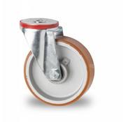 drejelig hjul , Ø 125mm, vulkaniseret polyuretan, 200KG
