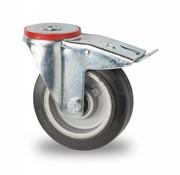 swivel castor with brake, Ø 125mm, elastic-tyre, 200KG
