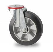 swivel castor, Ø 200mm, elastic-tyre, 400KG