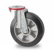 rueda giratoria, Ø 200mm, goma elástica, 400KG