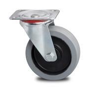 roulette pivotante, Ø 200mm, caoutchouc élastique non tachant, 400KG