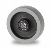 Koła, Ø 100mm, termoplastyczna guma szara, niebrudząca, 150KG