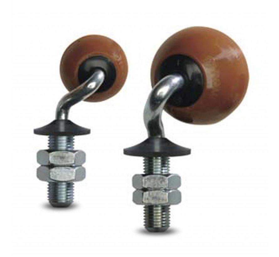 Glass table castor wheels, ball castors swivel castor from , solid plug fitting, Vulkopan, plain bearing, Wheel-Ø 50mm, 20KG