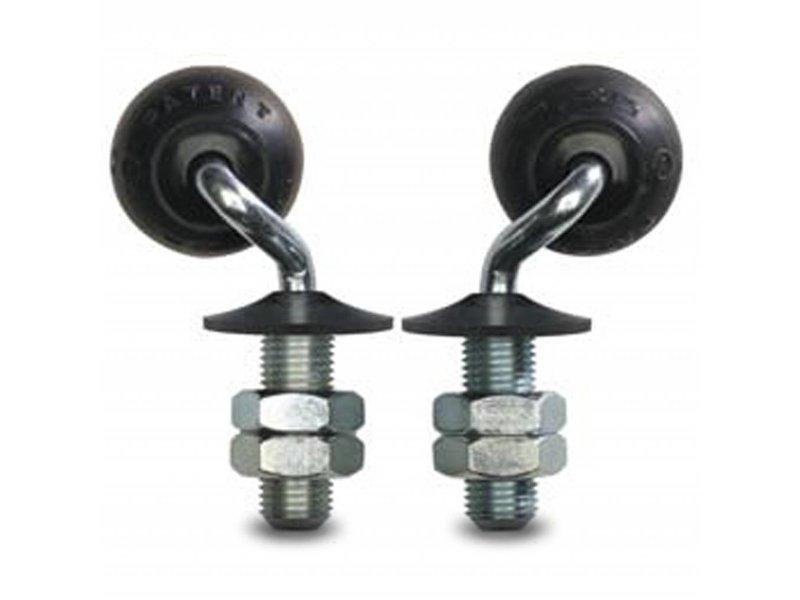 drejelig hjul  drejelig hjul  af , tapbefæstigelse, elastisk gummi, glideleje, Hjul-Ø 50mm, 20KG