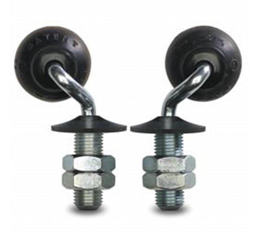Rader für Glastisch, Kugelschwenkrolle Lenkrolle aus , Zapfenbefestigung, Elastik-reifen, Gleitlager, Rad-Ø 50mm, 20KG