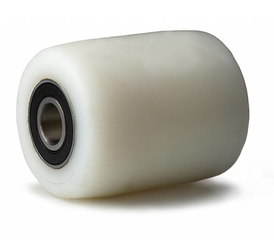 pallet truck wheel from fully nylon (PA6) wheel, precision ball bearing, Wheel-Ø 82mm, 750KG