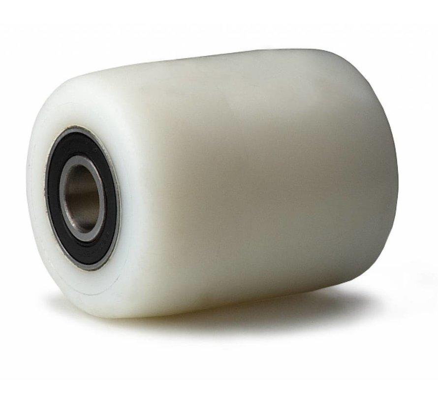 pallet truck wheel from fully nylon (PA6) wheel, precision ball bearing, Wheel-Ø 82mm, 650KG