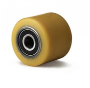 Hjul, Ø 82mm, vulkaniseret polyuretan, 900KG