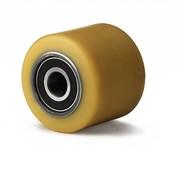 Hjul, Ø 80mm, vulkaniseret polyuretan, 600KG