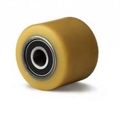Hjul, Ø 80mm, vulkaniseret polyuretan, 500KG