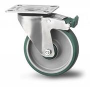 rueda giratoria con freno, Ø 200mm, poliuretano inyectado, 300KG