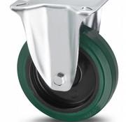 fixed castor, Ø 160mm, vulcanized elastic rubber tires, 300KG
