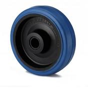 Hjul, Ø 125mm, elastisk gummi, 180KG