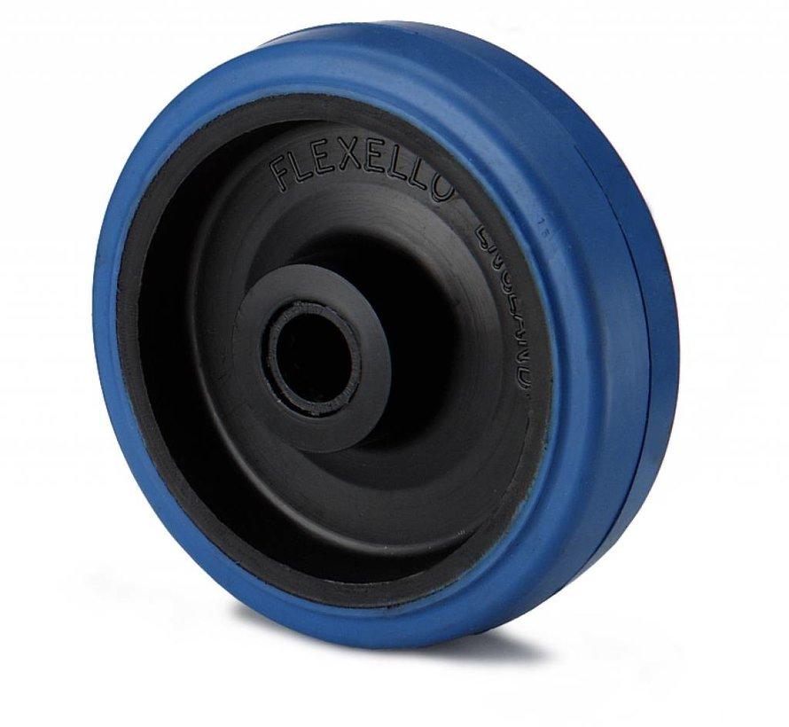Zestawy kołowe transportowe Koła z bieżnikiem elastycznym., łożysko rolkowe, koła / rolki-Ø100mm, 160KG