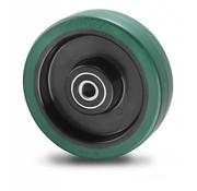 wheel, Ø 100mm, vulcanized elastic rubber tires, 150KG