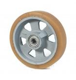 Hårde hjul Vulkollan® Bayer hjulbane støbegods, DIN-kugleleje, Hjul-Ø 200mm, 600KG