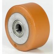 poliuretano Vulkollan® fascia centro della ruota in ghisa, Ø 150x65mm, 800KG