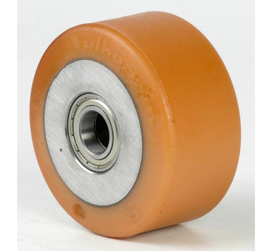 Ruedas de alta capacidad poliuretano Vulkollan® bandaje núcleo de rueda de hierro fundido, cojinete de bolas de precisión, Rueda-Ø 150mm, 60KG
